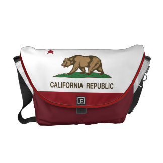 California Republic Bear Flag Messenger Bag