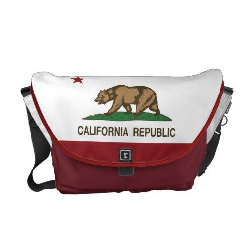 California Republic Bear Flag Courier Bags