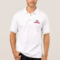 California Republic bear flag polo shirt