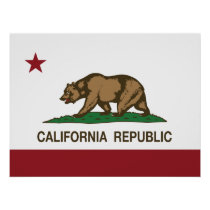 California Republic Bear Flag Poster