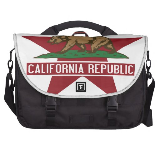 California Republic Bear Flag Star Bag For Laptop