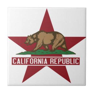 California Republic Bear Flag Star Tiles