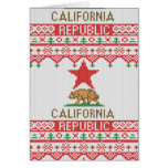 California Republic Bear on Christmas Ugly Sweater Card