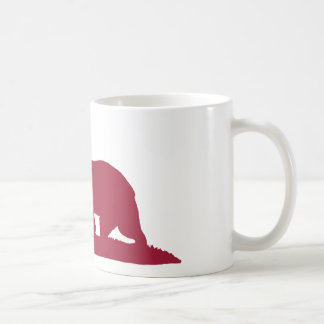 California Republic Bear - Red Coffee Mug
