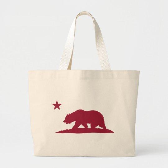 California Republic Bear - Red Large Tote Bag
