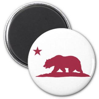 California Republic Bear - Red Magnet