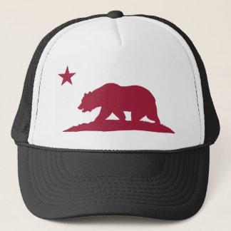 California Republic Bear - Red Trucker Hat