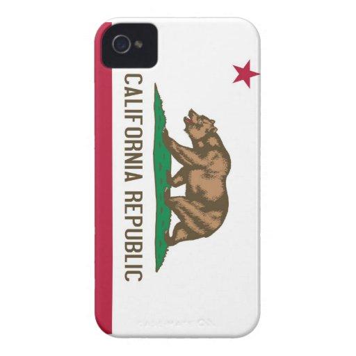 California Republic Bear State Flag iPhone 4 Case-Mate Case