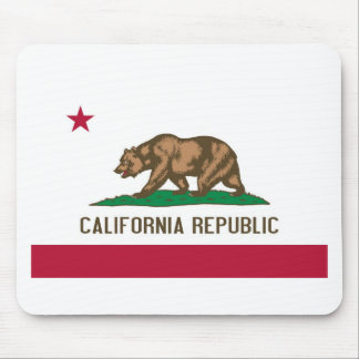 California Republic Bear State Flag Mouse Pad
