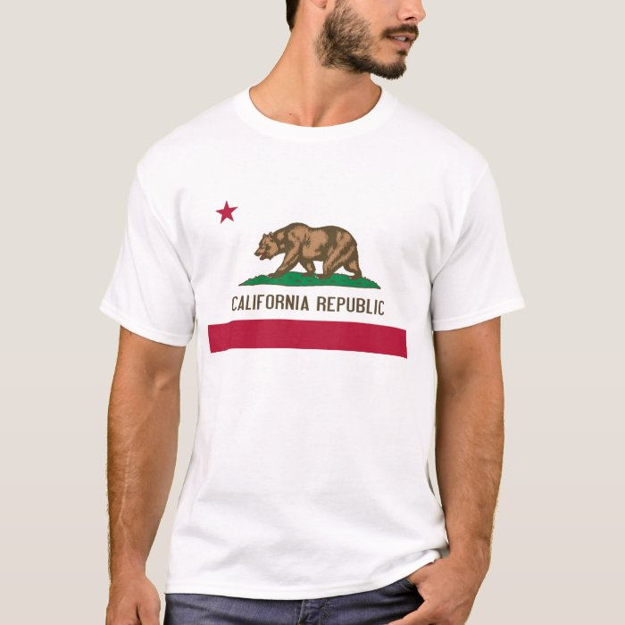 California Republic Bear State Flag T-Shirt