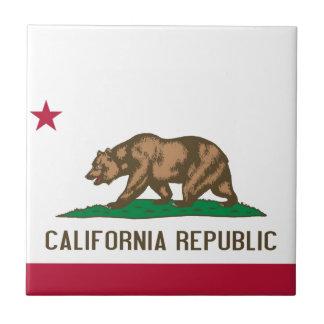 California Republic Bear State Flag Ceramic Tile