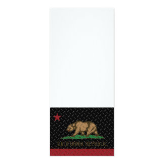 California Republic Black Diamond Plate Card