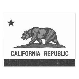 California Republic (Black) Postcards
