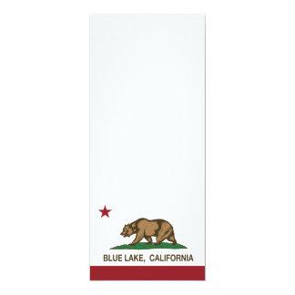 California Republic Blue Lake Flag 4x9.25 Paper Invitation Card