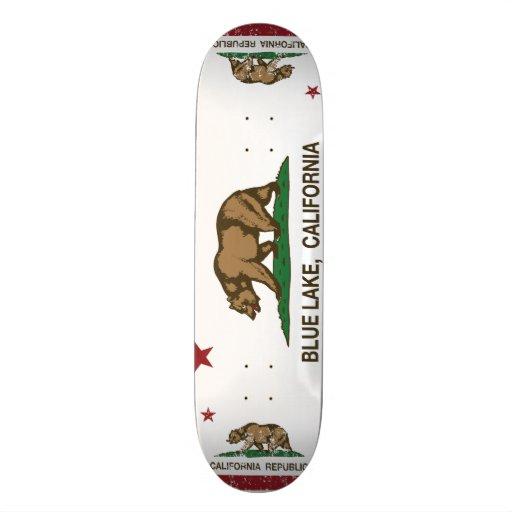 California Republic Blue Lake Flag Custom Skate Board