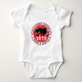 California republic born raised 1970 baby bodysuit