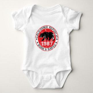 California republic born raised 1980 baby bodysuit