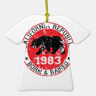 california republic born raised 1983 christmas ornaments