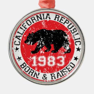 california republic born raised 1983 ornaments