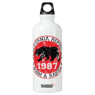 California Republic born raised 1987 SIGG Traveler 0.6L Water Bottle