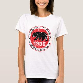 California Republic born raised 1988 T-Shirt