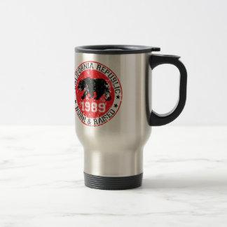 California Republic born raised 1989 Travel Mug