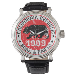 California Republic born raised 1989 Wristwatch