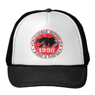 california republic born raised 1990 trucker hat