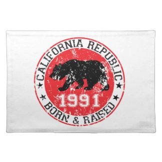 california republic born raised 1991 place mats