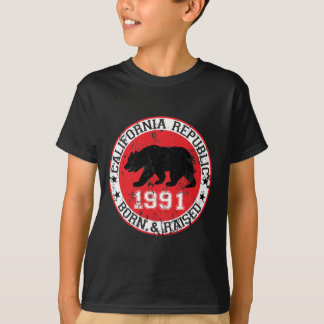 california republic born raised 1991 T-Shirt