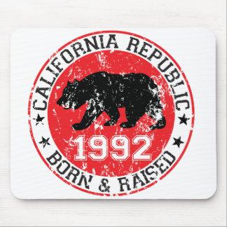 california republic born raised 1992 mouse pads