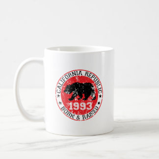 california republic born raised 1993 coffee mug