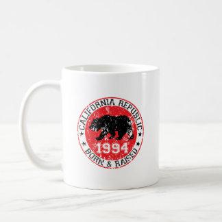 california republic born raised 1994 coffee mug