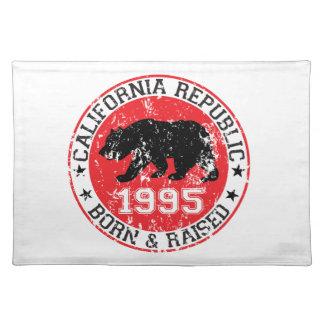 california republic born raised 1995 placemat
