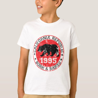 california republic born raised 1995 T-Shirt