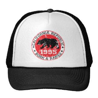 california republic born raised 1995 trucker hat