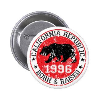 california republic born raised 1996 pins