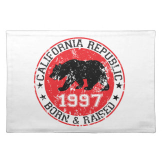 california republic born raised 1997 placemats