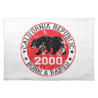 california republic born raised 2000 place mat