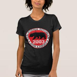 California republic born raised 2003 tees
