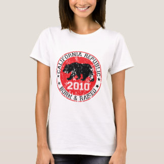 california republic born raised 2010 T-Shirt