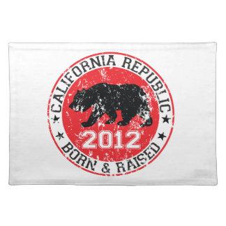 california republic born raised 2012 place mats