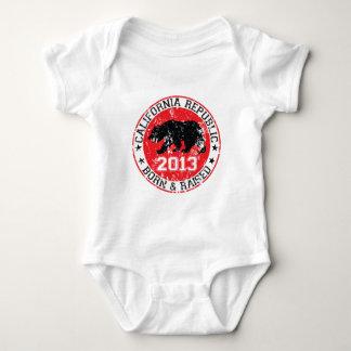California republic born raised 2013 baby bodysuit