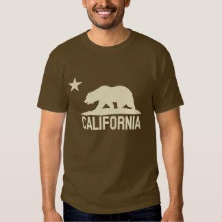 California Republic - CA Bear - Beige Silhouette Tee Shirt