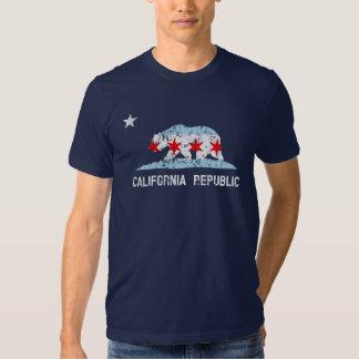 California Republic Chicago Transplant Flag Mashup T Shirt