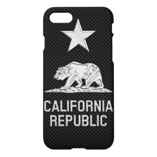 CALIFORNIA REPUBLIC Chrome on Carbon Fiber iPhone 8/7 Case
