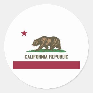 California Republic Classic Round Sticker