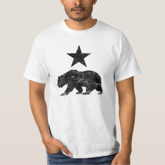 California Republic distressed Bear and Star shirt