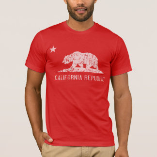 California Republic Distressed Dark T Shirt
