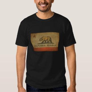 California Republic Distressed Flag Tee Shirt
